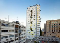 Jean Nouvel's Cyprus tower is a pixelated, perforated plant paradise