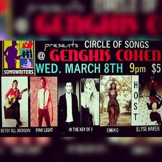 And going on... NOW! Come on out to Genghis Cohen for an awesome night of singer-songwriter Nashville-round style music   #genghiscohen #livemusic #losangeles #singersongwriter #inthekeyofj #singer #songwriter #songwriters #liveshow #losangelesmusic #indiemusic