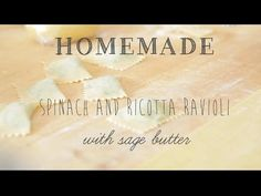 ▶ Homemade Spinach and Ricotta Ravioli with Sage Butter - YouTube
