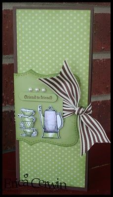 Gift Pocket Wallet using Morning Cup and Teeny Tiny Wishes. Also uses Scallop Envelope Die cut. Color is Pear Pizzazz, Choc Chip