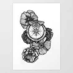 Compass - Fhöbik Art Print by Fhobik - $18.00