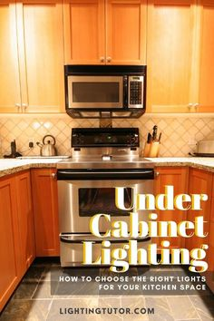 Under cabinet lighting options for your kitchen #undercabinetlighting #undercabinetlights #kitchenlighting #kitchenlightingideas Old Kitchen, Kitchen Tile, Kitchen Design, Kitchen Cabinets, Kitchen Decor, Home Design, Interior Decorating Tips, Cool Lighting, Lighting Ideas