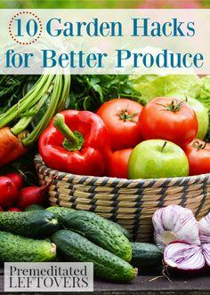 10 Garden Hacks for Better Produce