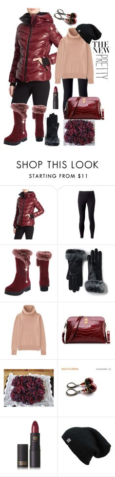 """""""Puffer Jackets"""" by belladonnasjoy ❤ liked on Polyvore featuring Moncler, Jockey, Lands' End, Uniqlo, Lipstick Queen, polyvoreeditorial, polyvorecontest, polyvorefashion and puffers"""