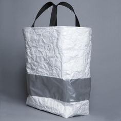 tyvek + reflective tote bag