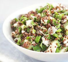 this is on the menu tonight - Red quinoa, feta & spinach salad Bbc Good Food Recipes, Vegetarian Recipes, Cooking Recipes, Healthy Recipes, Yummy Food, Tasty, Spinach Salad Recipes, Spinach And Feta, Red Quinoa Salad