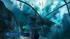 Jurassic World Concept Art: Mosasaur Lagoon by IndominusRex.deviantart.com on @DeviantArt