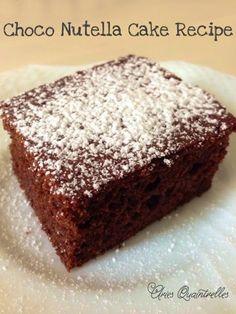 Choco Nuttela Cake Recipe   Aries Quaintrelles
