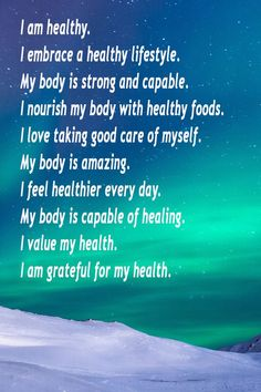 When we take the time to say affirmations for health, it is amazing how we can shift our mindset towards positive living and reach our goals. affirmations Affirmations for Health Healthy Affirmations, Morning Affirmations, Love Affirmations, Vie Positive, Positive Living, Positive Mindset, Quotes Positive, Law Of Attraction Affirmations, Manifestation Law Of Attraction
