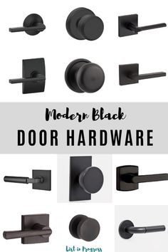 point face 12 modern black door knobs and levers - change out your old hardware to one of these gorgeous knobs or levers and give your doors a face lift. Check out how we updated our new white doors with a modern black lever. It looks so sharp! Interior Door Styles, Interior Door Knobs, Black Interior Doors, Black Doors, White Doors, Farmhouse Interior Doors, Interior Design, Interior Paint, Black Door Hardware