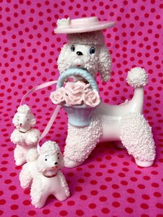 Hey, I found this really awesome Etsy listing at https://www.etsy.com/listing/236770036/rare-1950s-white-spaghetti-poodle-and