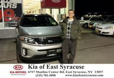 I purchased a 2015 Kia Sorento. This is my second vehicle purchase with the fine folks at Kia of East Syracuse, Dave was great & handled both my purchases. Kelli was fantastic to work with, the closing was a breeze. - Ron Marshall, Tuesday, November 25, 2014 http://www.kiaofeastsyracuse.com/?utm_source=Flickr&utm_medium=DMaxxPhoto&utm_campaign=DeliveryMaxx