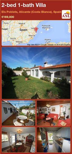 2-bed 1-bath Villa in Els Poblets, Alicante (Costa Blanca), Spain ►€169,000 #PropertyForSaleInSpain