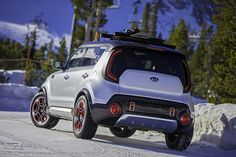 Trail'ster, the Kia Soul AWD Electric Concept Revealed - The . Kia Soul, Chicago Auto Show, Kia Motors, Kelley Blue, Broken Arrow, Blue Books, Car And Driver, Fuel Economy, Car Wallpapers