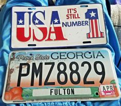 PA GA Set 3 Custom Lego License Plate Stickers DE States FL