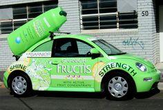 3D Branding for Garnier Shampoo, 3D Shampoo bottle, vehicle wrap