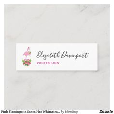 Pink Flamingo in Santa Hat Whimsical Christmas Mini Business Card Whimsical Christmas, Christmas Minis, Pink Flamingos, Santa Hat, Keep It Cleaner, Holiday Cards, Business Cards, Christian Christmas Cards, Lipsense Business Cards