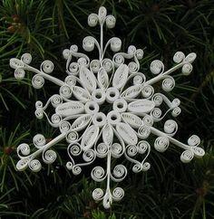 квиллинг, снежинка, новый год