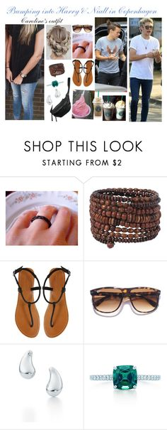 """Bumping into Harry & Niall"" by karolinebhn ❤ liked on Polyvore featuring Forever 21, London Rebel, Ray-Ban, Elsa Peretti, GET LOST, Yvonne Koné and Tiffany & Co."
