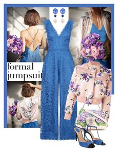 """""""Formal Jumpsuit - Spring Blue"""" by giovanina-001 ❤ liked on Polyvore featuring Temperley London, Miu Miu, MSGM, Dolce&Gabbana and Fendi"""