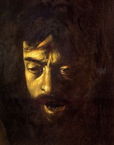 An example of tenebrism in a self portrait by the artist Caravaggio