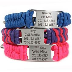 paracord dog collars- everything on this site is awesome, actually