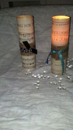 Sheet Music Candle Centerpieces