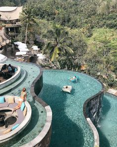 We aspire to a good hotel pool and are guilty of making pool-centered decisions when it comes to where to stay. Suffice it to say that all of these hotel pools. Luxury Pools, Luxury Spa, Swimming Pool Designs, Swimming Pools, Beautiful Hotels, Beautiful Places, Jungle Resort, Outside Pool, Villa