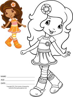 Free Coloring Pages Of Strawberry Shortcake 56