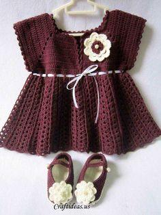 Crochet cute dress for little girls