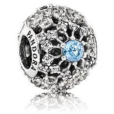 Disney Cinderella Wish Charm by PANDORA | Disney StoreCinderella Wish Charm by PANDORA - Silvery snowflakes circle this Cinderella Wish Charm by PANDORA. Finely detailed in sterling silver, the openwork charm is accented with dazzling blue and clear cubic zirconias to provide sparkling memories of the beloved fairytale.