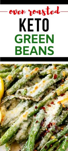 If you love meals that leave the whole family happy, you are going to love this Oven Roasted Keto Green Bean Recipe.  This low carb recipe is so ridiculously full of flavor. I am so happy that I found this deliciously easy recipe.  #lowcarb #lowcarbvegetable #ketovegetable #ketorecipes Crispy Green Beans, Cooking Green Beans, Roasted Green Beans, Roasted Cherry Tomatoes, Low Carb Side Dishes, Side Dishes Easy, Low Carb Vegetables, Veggies, Easy Dinner Recipes