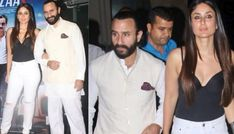 Saif Ali Khan and Kareena Kapoor Khan attended yesterday the screening of 'Baazaar' that hits the screens today. Saif Ali Khan, Kareena Kapoor Khan, Bollywood News, Coming Out, Chef Jackets, Style, Fashion, Going Out, Swag