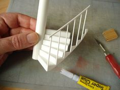 How to make a model spiral staircase