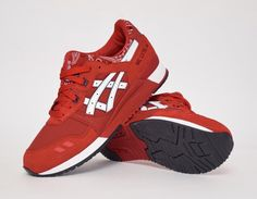 #Asics Gel Lyte III Red Bandana #sneakers