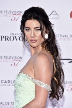 Jacqueline MacInnes Wood Photos Photos - Jacqueline MacInnes Wood attends the Monte Carlo TV Festival Opening Ceremony on June 2017 in Monte-Carlo, Monaco. Heather Tom, Jacqueline Macinnes Wood, Canadian Actresses, Photo On Wood, Opening Ceremony, Monte Carlo, Singer, Lady, Wedding Dresses