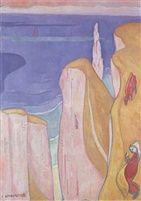 les falaises d'Yport par Emile Bernard 1892