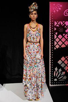 Mara Hoffman Spring 2012 collection. Peruvian inspired v-neck sumer dress. Fun!