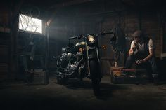 How You Shot It: Dramatic Royal Enfield Motorcycle Portrait http://www.slrlounge.com/dramatic-royal-enfield-motorcycle-portrait/