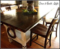 Down to Earth Style:Workbench Turned Breakfast Table