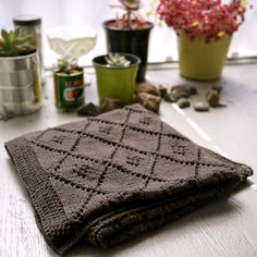 """The """"Chocolate Parfait"""" Baby Blanket…Plus… detailed instructions on how to design and create your own blanket based on some simple preliminary calculations."""