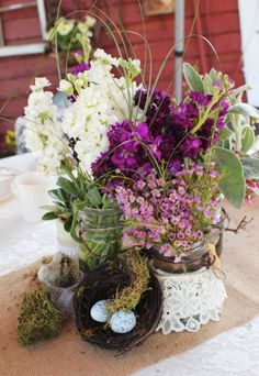 Country Wedding Centerpiece