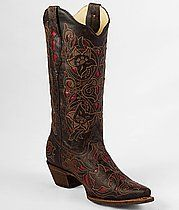 Coral Contrast Cowboy Boots
