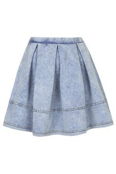 Denim Look Flippy Skirt