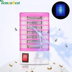 US EU Plug 110V-220V Mosquito Trap Mini Night Light Insect Mosquito Killer Repellent Mosquito Killer LED Sensor Night Lamp Home
