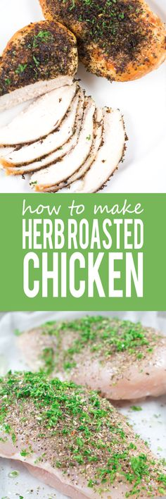 How To Make Herb Roasted Chicken Breasts Herb Roasted Chicken Breasts The most quick easy and BEST way to roast chicken breasts perfectly tender packed with flavor and super healthy! Clean Eating Diet, Clean Eating Recipes, Healthy Eating, Cooking Recipes, Roasted Chicken Breast, Herb Roasted Chicken, Roast Chicken, Healthy Snacks, Healthy Recipes