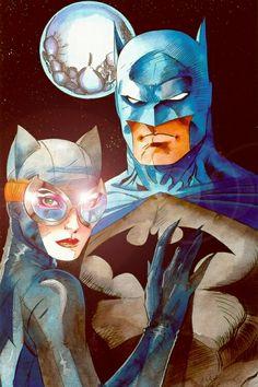 Catwoman and Batman - Pencils by Jim Lee — Coloring by Laurence Zrinzo Batman And Catwoman, Batman Art, Batgirl, Joker, Gotham Batman, Batman Robin, Comic Book Characters, Comic Book Heroes, Comic Character