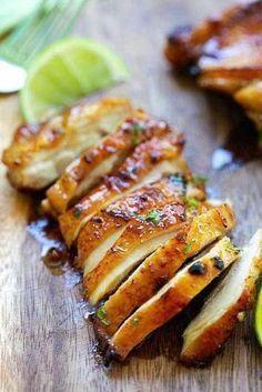 recette pas cher de poulet au citron et au miel
