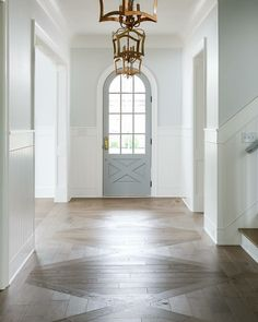 Beautiful entryway wood floor