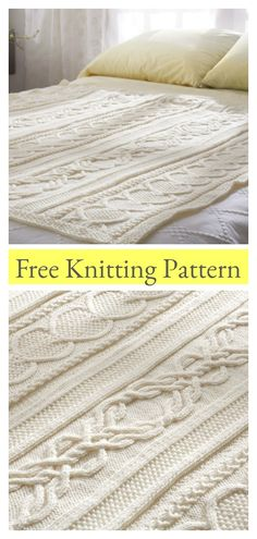 Gift Of Love Cable Afghan Blanket Free Knitting Pattern – cable knitting blanket Cable Knit Blankets, Knitted Baby Blankets, Cable Knitting Patterns, Free Knitting, Knitted Afghans Patterns Free, Knitting Basics, Felt Patterns, Knitting Ideas, Knitting Designs